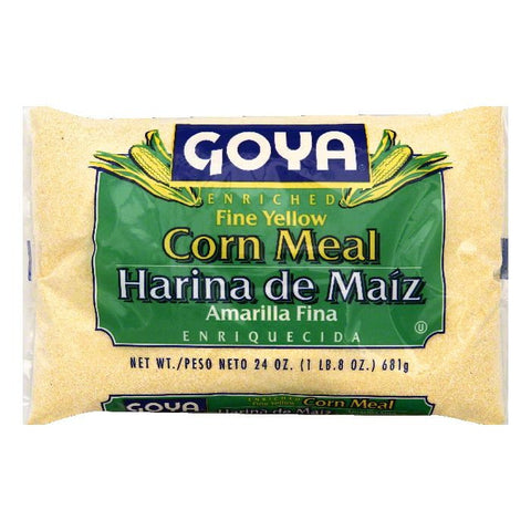 Goya Fine Yellow Enriched Corn Meal, 24 OZ (Pack of 12)