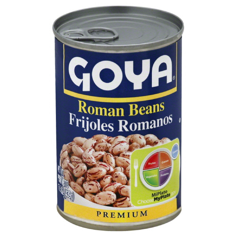 Goya Premium Roman Beans, 15.5 Oz (Pack of 24)