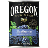 Oregon Fruit Products Blackberries in Light Syrup 15 Oz  (Pack of 8)