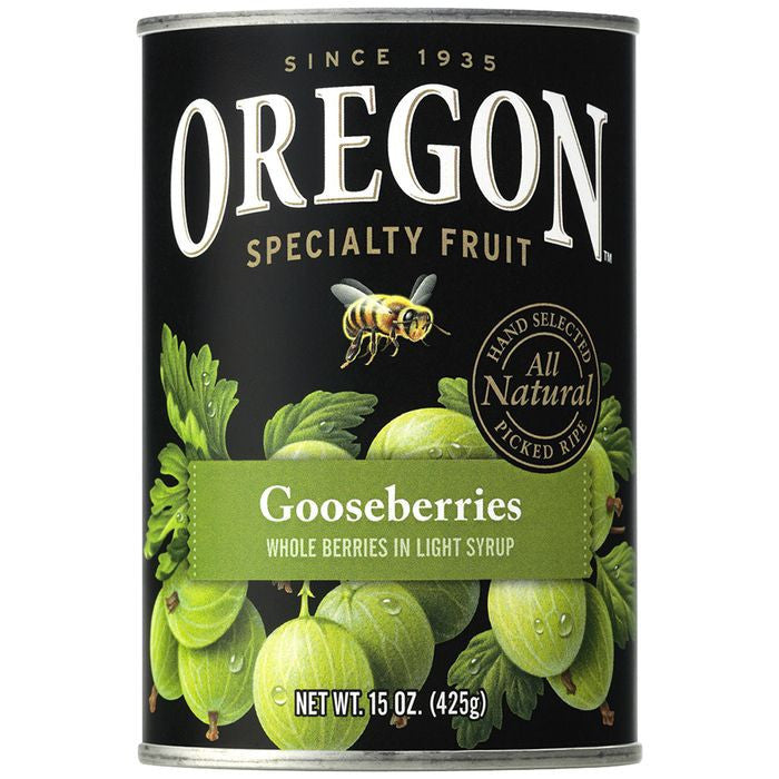 Oregon Fruit Products Gooseberries in Light Syrup 15 Oz  (Pack of 8)