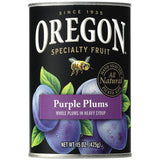 Oregon Fruit Products Whole Purple Plums in Heavy Syrup 15 Oz  (Pack of 8)
