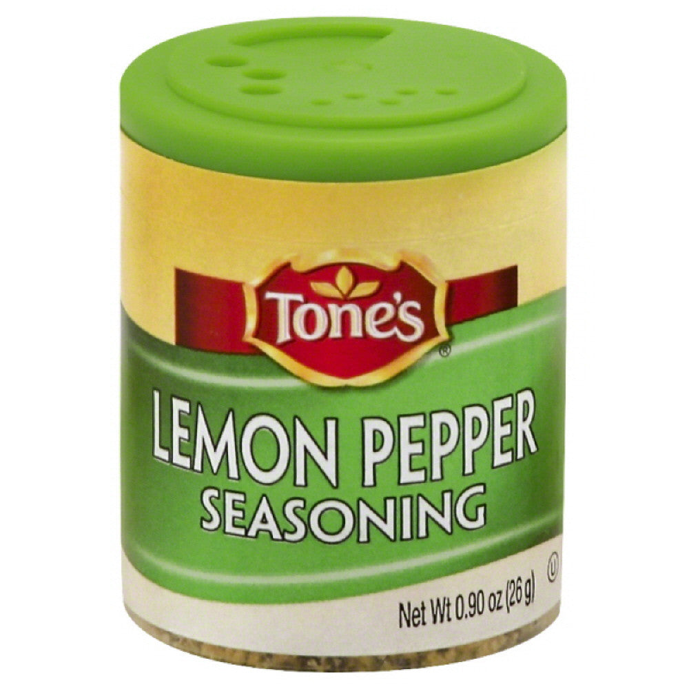 Tones Lemon Pepper Seasoning, 0.9 Oz (Pack of 6)