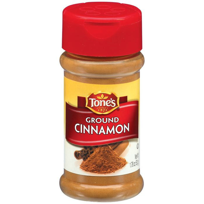 Tone's Ground Cinnamon 1.76 Oz Shaker (Pack of 6)