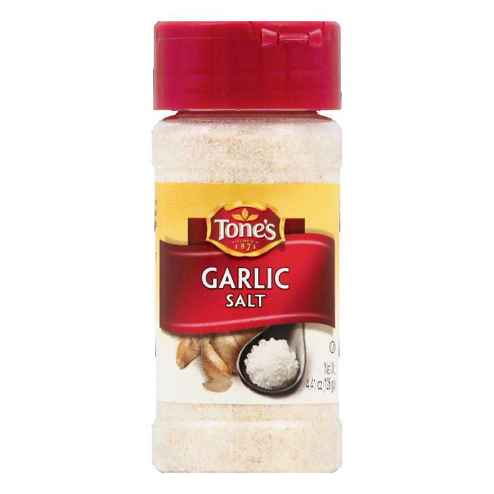 Tones Garlic Salt, 4.41 OZ (Pack of 6)