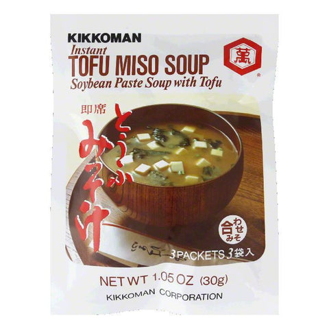Kikkoman Instant Soup Mix Tofu Miso (Pack of 12)