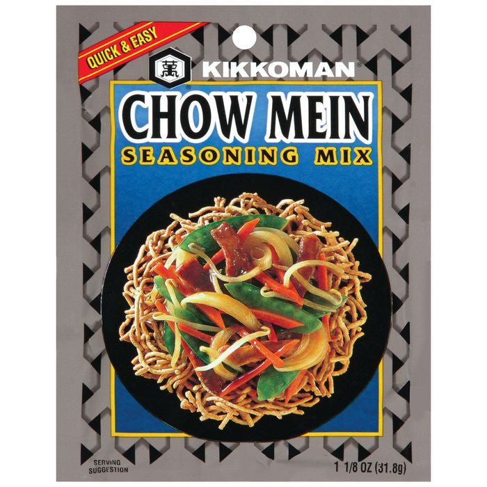 Kikkoman Chow Mein Seasoning Mix 1.125 Oz (Pack of 24)