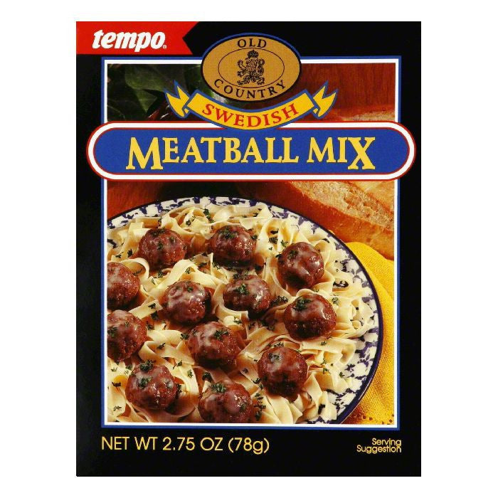 Tempo Swedish Meat Ball Mix, 2.75 OZ (Pack of 12)