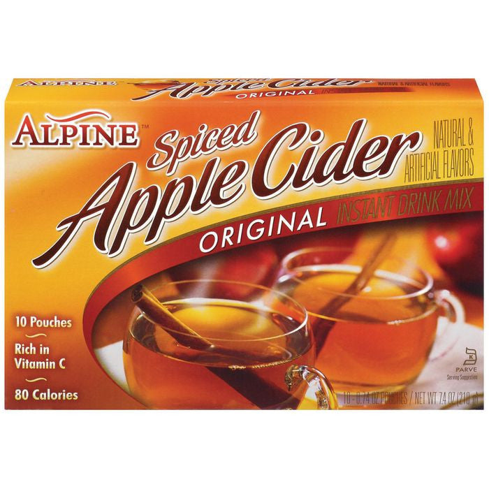 Alpine Spiced Apple Cider Original Instant Drink Mix 10 Ct  (Pack of 12)