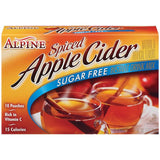 Alpine Spiced Apple Cider Sugar Free Instant Drink Mix 10 Ct  (Pack of 12)