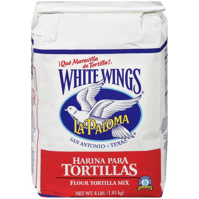 White Wings La Paloma Flour Tortilla Mix 4 lb. Bag (Pack of 6)