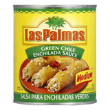 Las Palmas Enchilada Sauce Green Chile Medium, 28 OZ (Pack of 12)