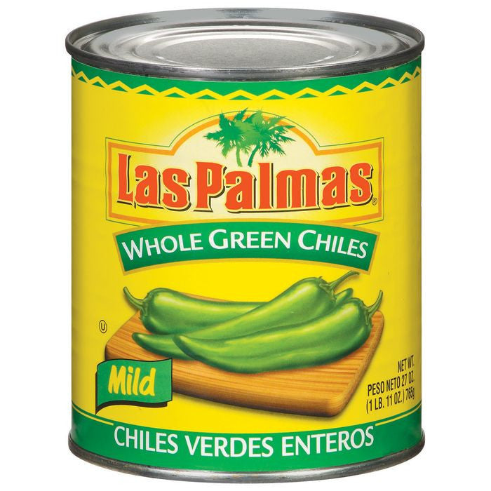 Las Palmas Whole Green Mild Chiles 27 Oz  (Pack of 12)