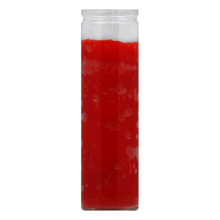 Reed Candle Red Wax Clear Glass Candle, 1 ea (Pack of 12)