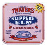 Thayers Lozenges Natural Cherry Flavor Slippery Elm, 42 ea (Pack of 10)