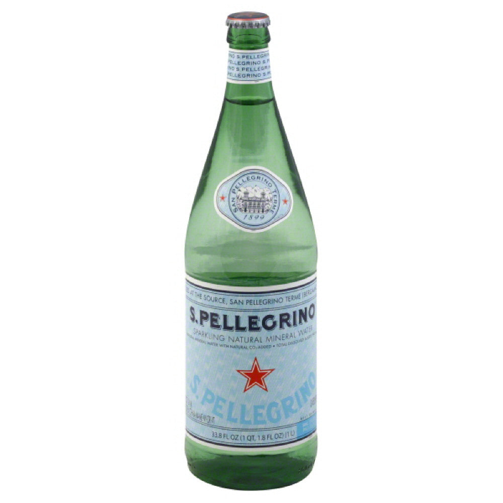 San Pellegrino Sparkling Natural Mineral Water, 33.8 Fo (Pack of 12)