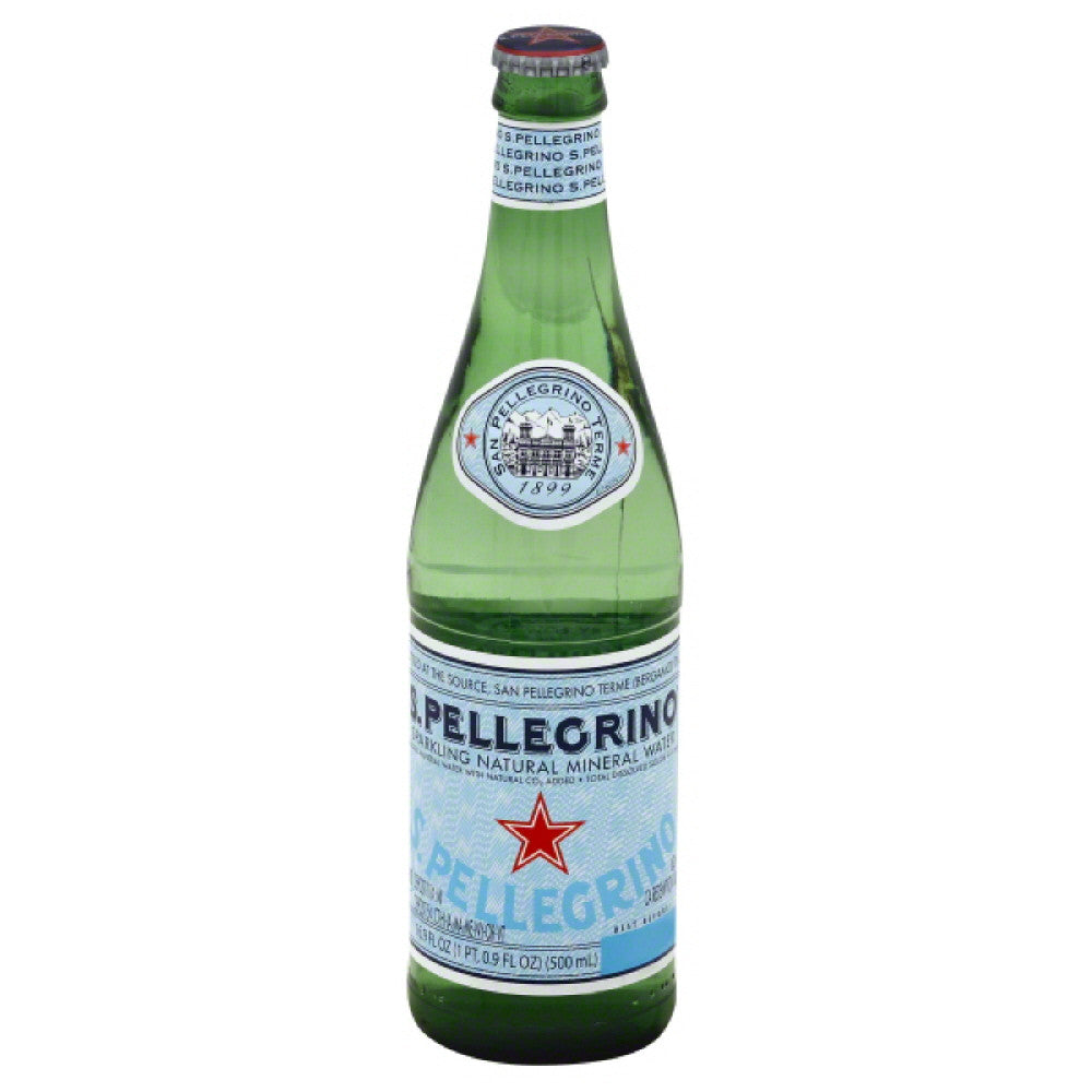 San Pellegrino Sparkling Natural Mineral Water, 16.9 Fo (Pack of 24)