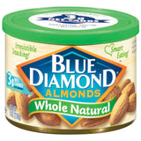 Blue Diamond Whole Natural Almonds 6 Oz  (Pack of 12)