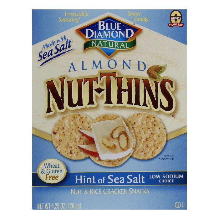 Blue Diamond Nut Thins Hint Of Salt, 4.25 OZ (Pack of 12)