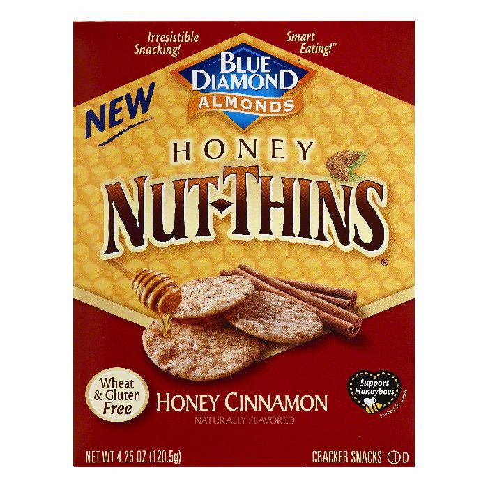Blue Diamond Honey Cinnamon Cracker Snacks, 4.25 OZ (Pack of 12)