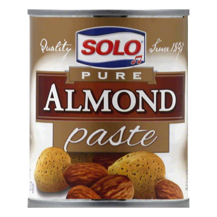 Solo Almond Paste, 8 OZ (Pack of 12)