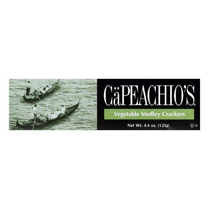 Capeachio Vegetable Medley Crackers, 4.4 OZ (Pack of 12)
