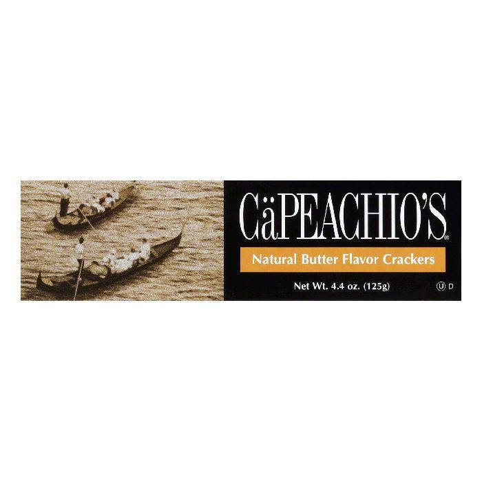 Capeachio Butter Flavor Crackers, 4.4 OZ (Pack of 12)