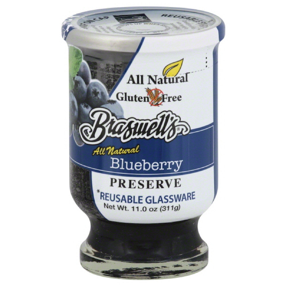 Braswells Blueberry Preserve, 11 Oz (Pack of 6)
