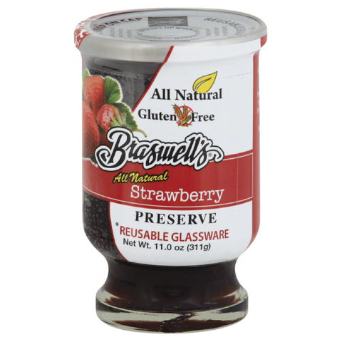 Braswells Strawberry Preserve, 11 Oz (Pack of 6)
