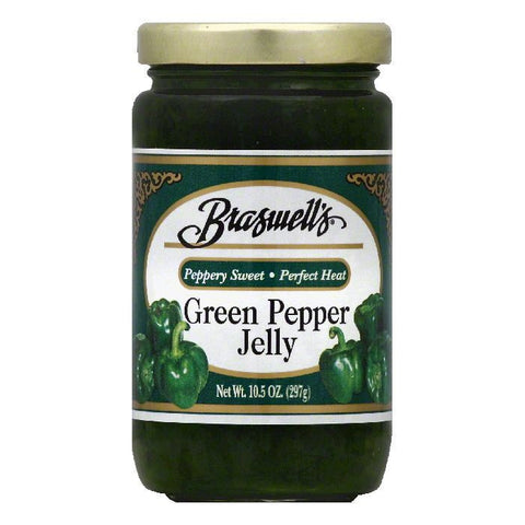 Braswells Green Pepper Jelly, 10.5 OZ (Pack of 6)