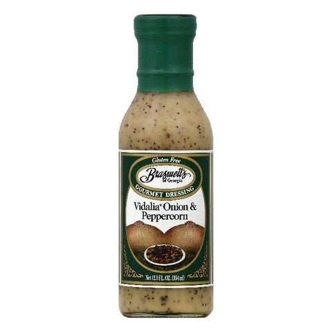 Braswells Vidalia Onion & Peppercorn Gourmet Dressing, 12 OZ (Pack of 6)