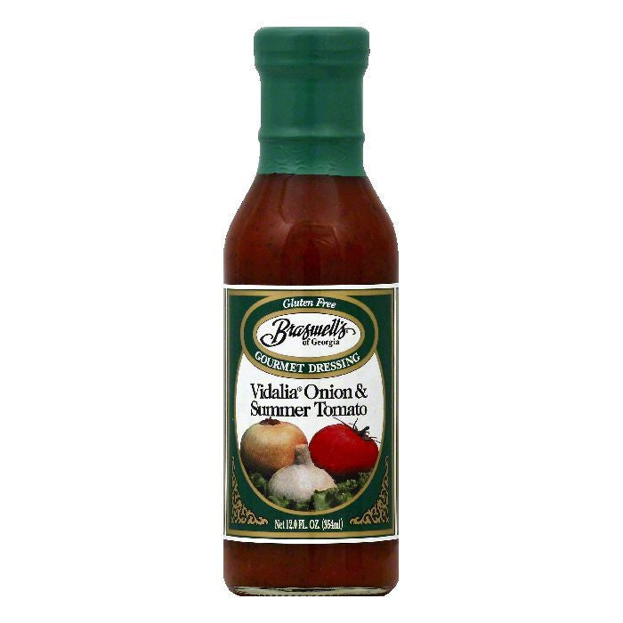 Braswells Vidalia Onion & Summer Tomato Gourmet Dressing, 12 OZ (Pack of 6)