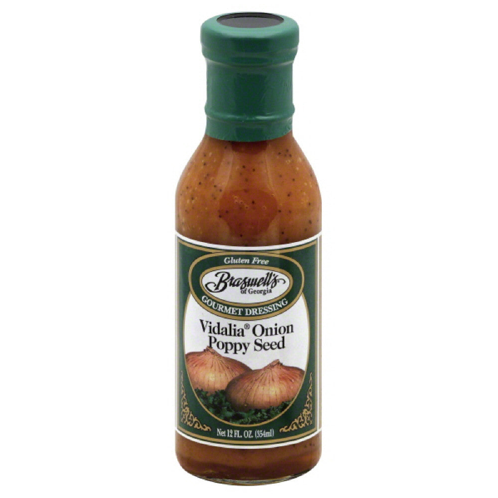 Braswells Vidalia Onion Poppy Seed Gourmet Dressing, 12 Oz (Pack of 6)