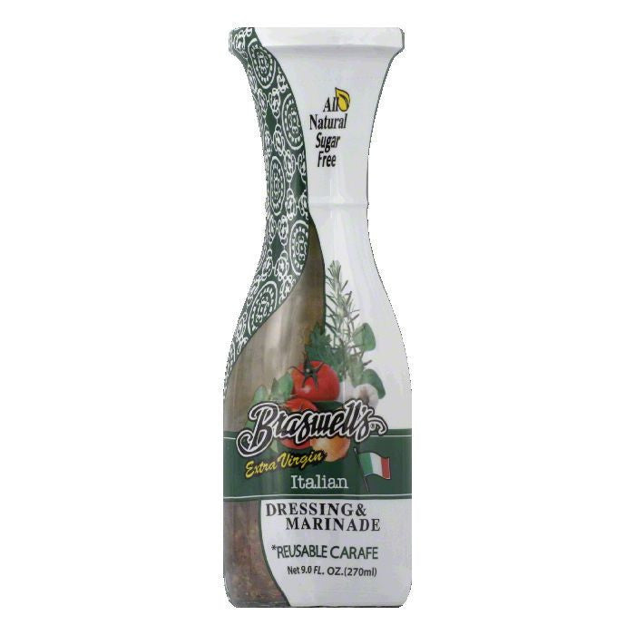 Braswell Extra Virgin Italian Carafe Dressing, 9 OZ (Pack of 6)