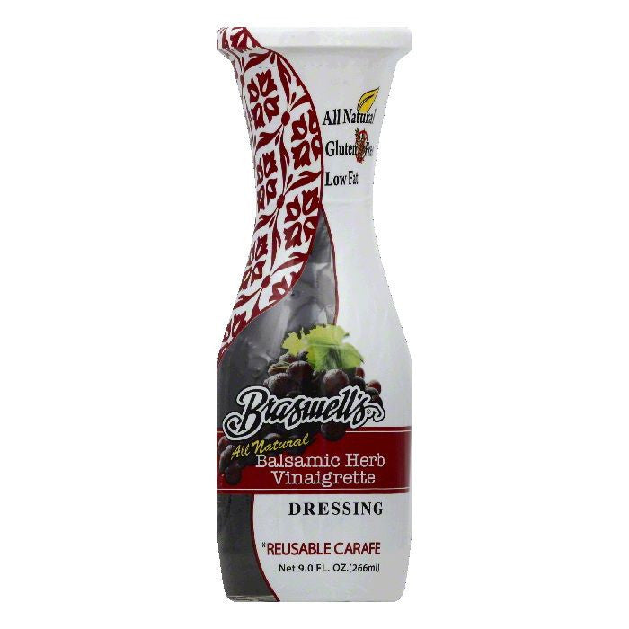 Braswells Balsamic Herb Vinaigrette Dressing, 9 OZ (Pack of 6)