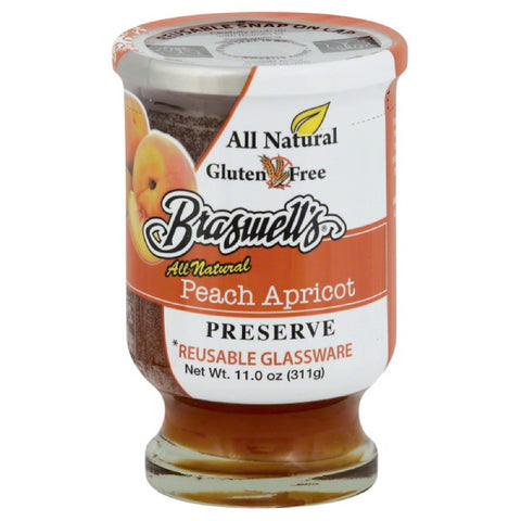 Braswells Peach Apricot Preserve, 11 Oz (Pack of 6)