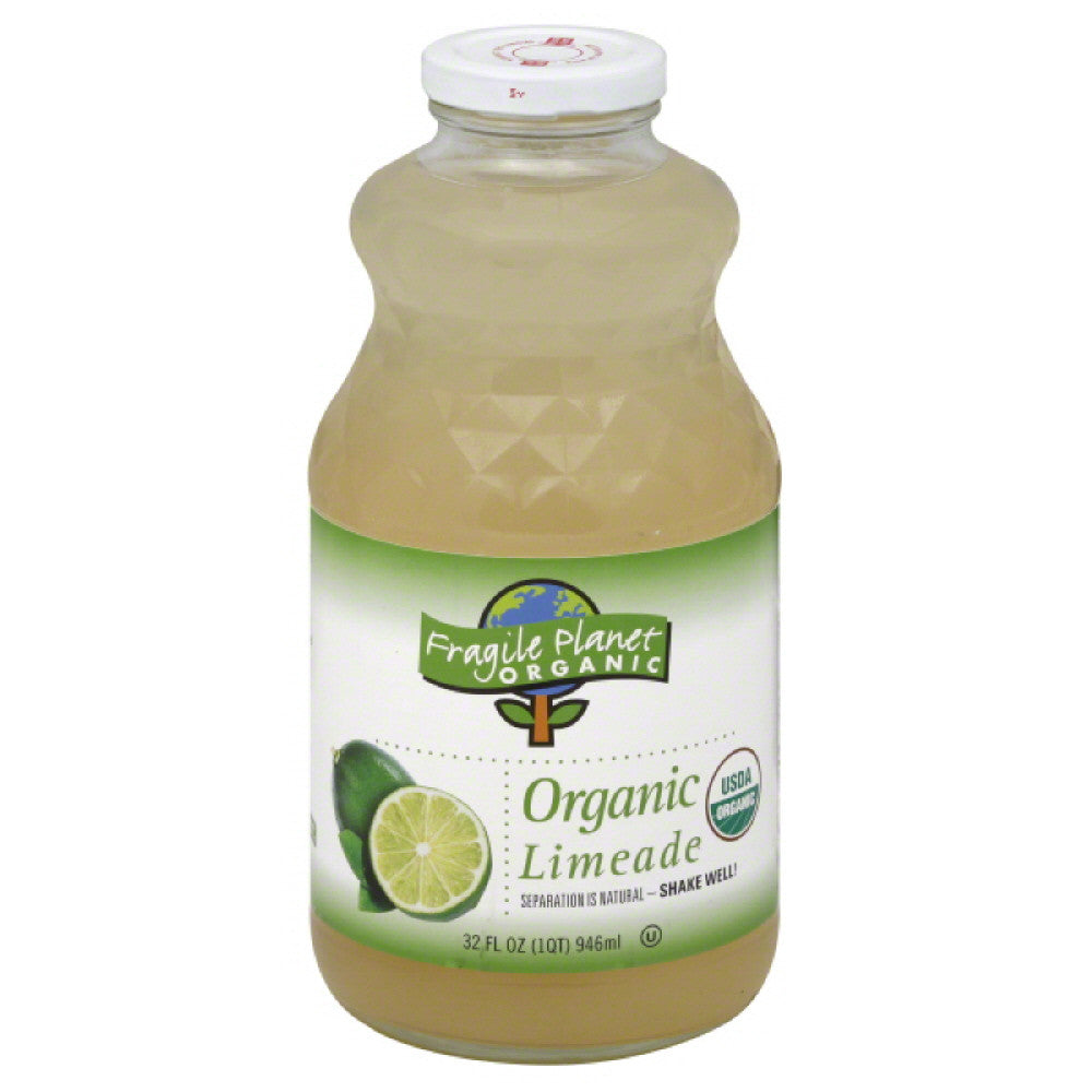 Fragile Planet Organic Organic Limeade, 32 Fo (Pack of 12)