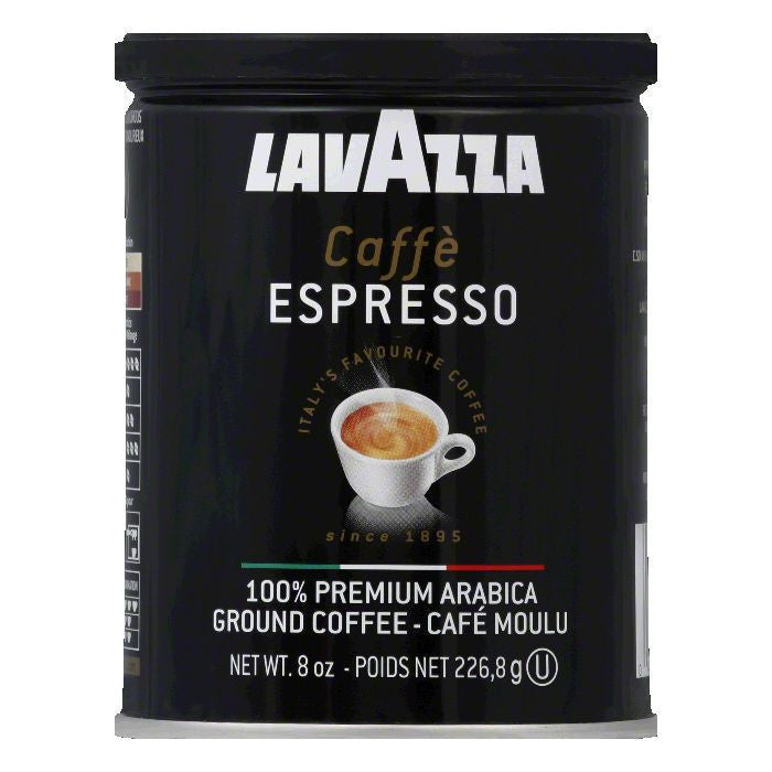 Lavazza Coffee grnd espresso can, 8 OZ (Pack of 12)