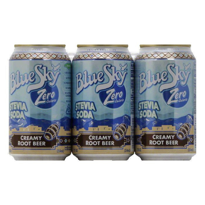Blue Sky Creamy Root Beer Stevia Soda, 12 Oz (Pack of 4)