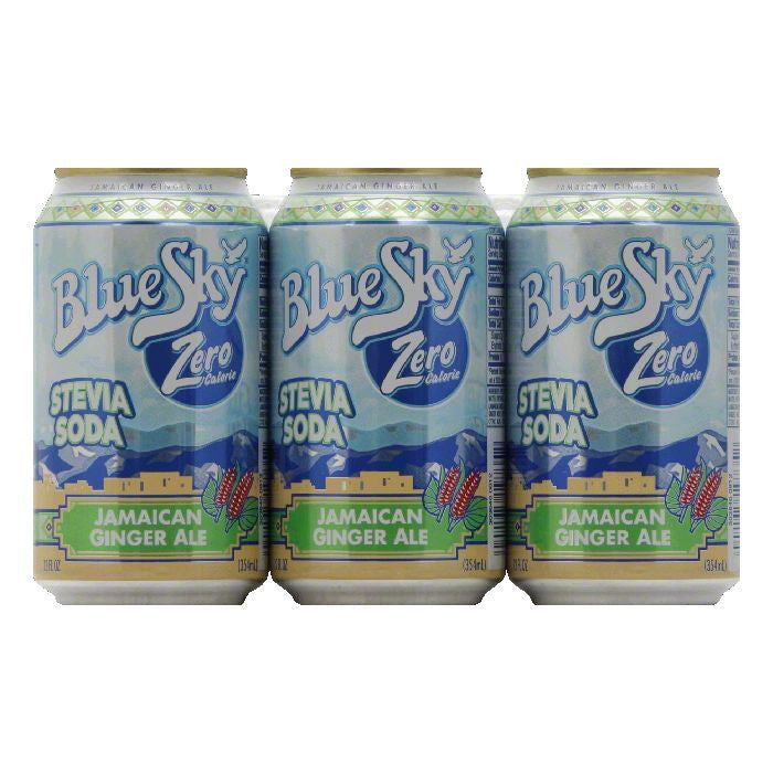 Blue Sky Jamaican Ginger Ale Stevia Soda, 12 Oz (Pack of 4)