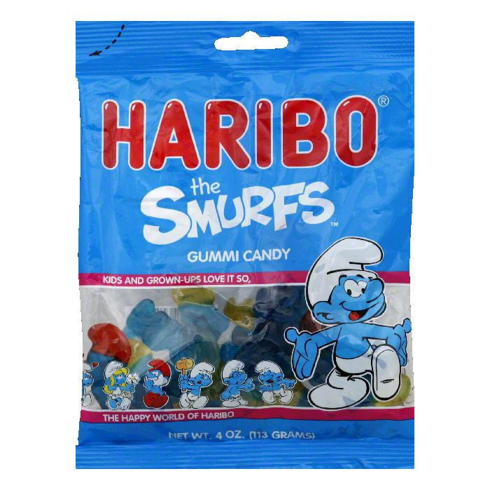 Haribo Gummi Smurfs, 4 OZ (Pack of 12)