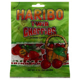Haribo Twin Cherries Gummi Candy, 5 Oz (Pack of 12)