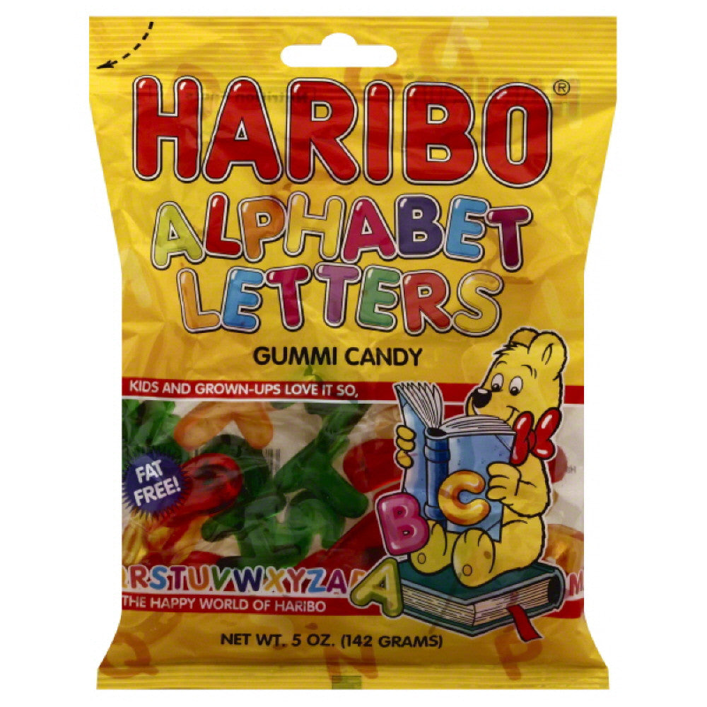 Haribo Alphabet Letters Gummi Candy, 5 Oz (Pack of 12)