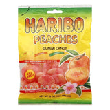 Haribo Gummi Candy Peaches, 5 OZ (Pack of 12)