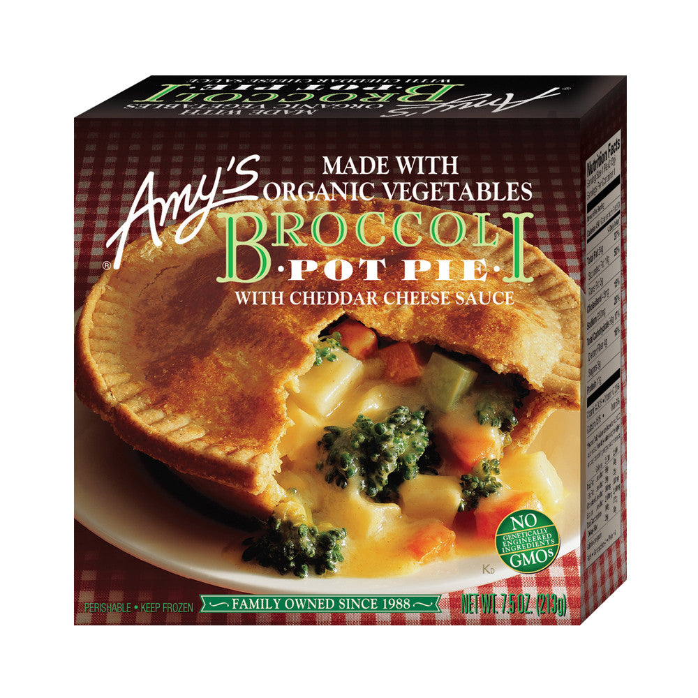 Amy's Kitchen Broccoli Pot Pie, 7.5 Oz (Pack of 12)