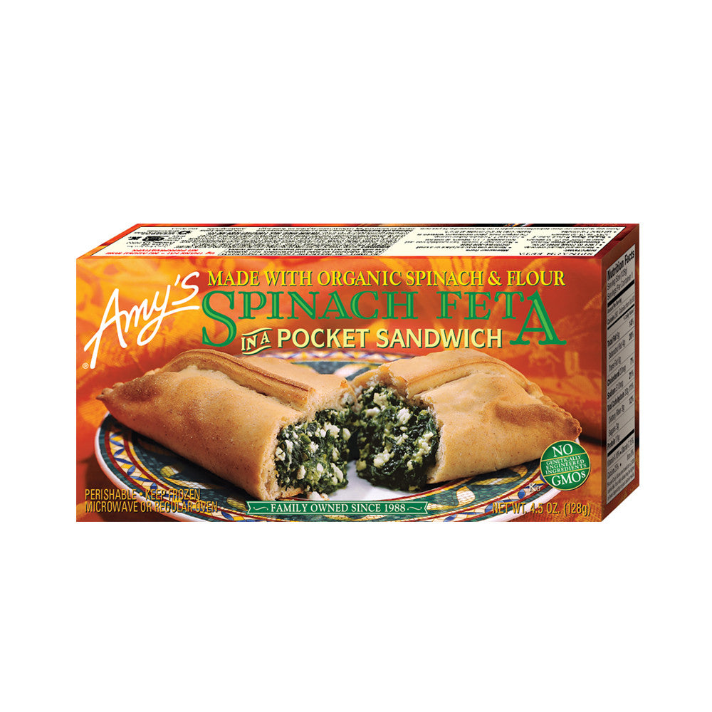 Amy's Kitchen Spinach Feta in a Sandwich, 4.5 Oz (Pack of 12)