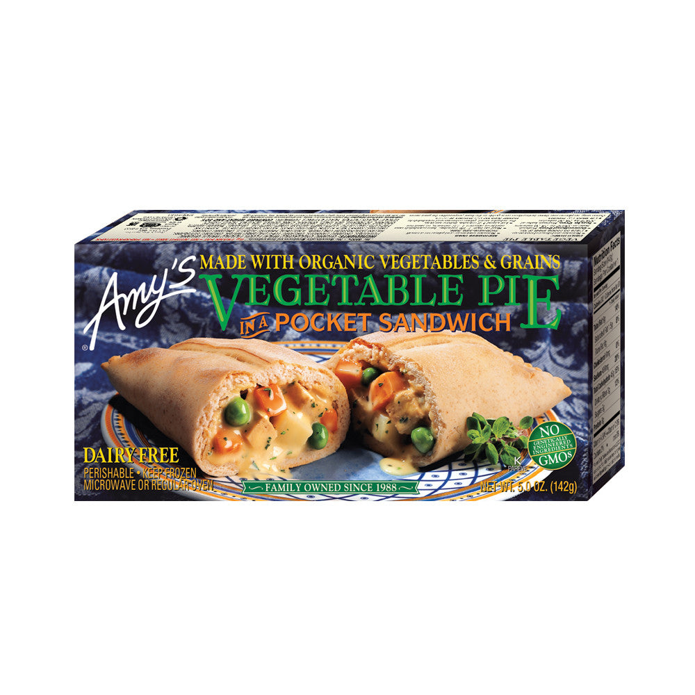 Amy's Kitchen Vegetable Pie in a Sandwich, 5 Oz (Pack of 12)