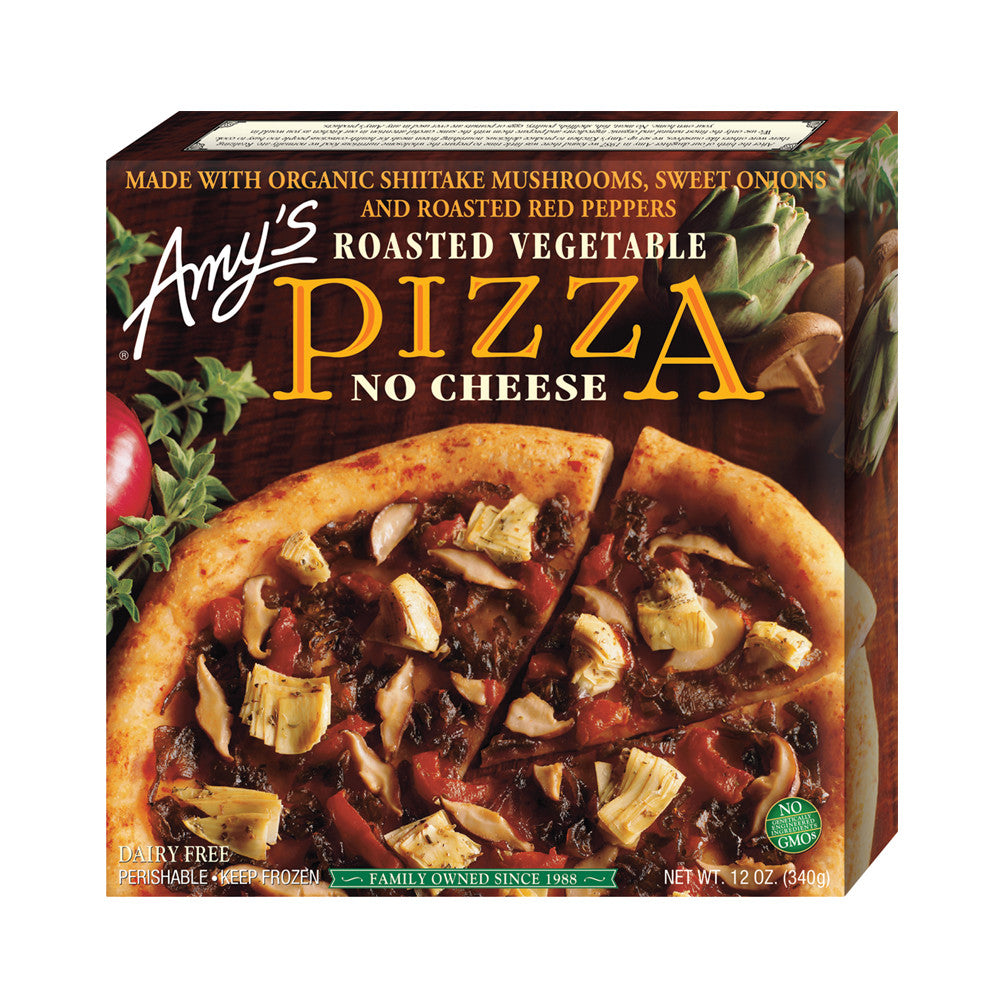 Amy's Kitchen Roasted Vegetable Pizza, 12 Oz (Pack of 08)