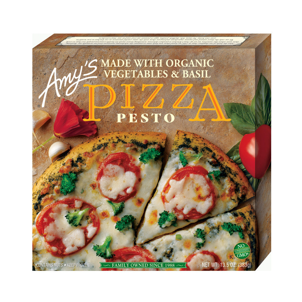 Amy's Kitchen Pesto Pizza, 13.5 Oz (Pack of 08)