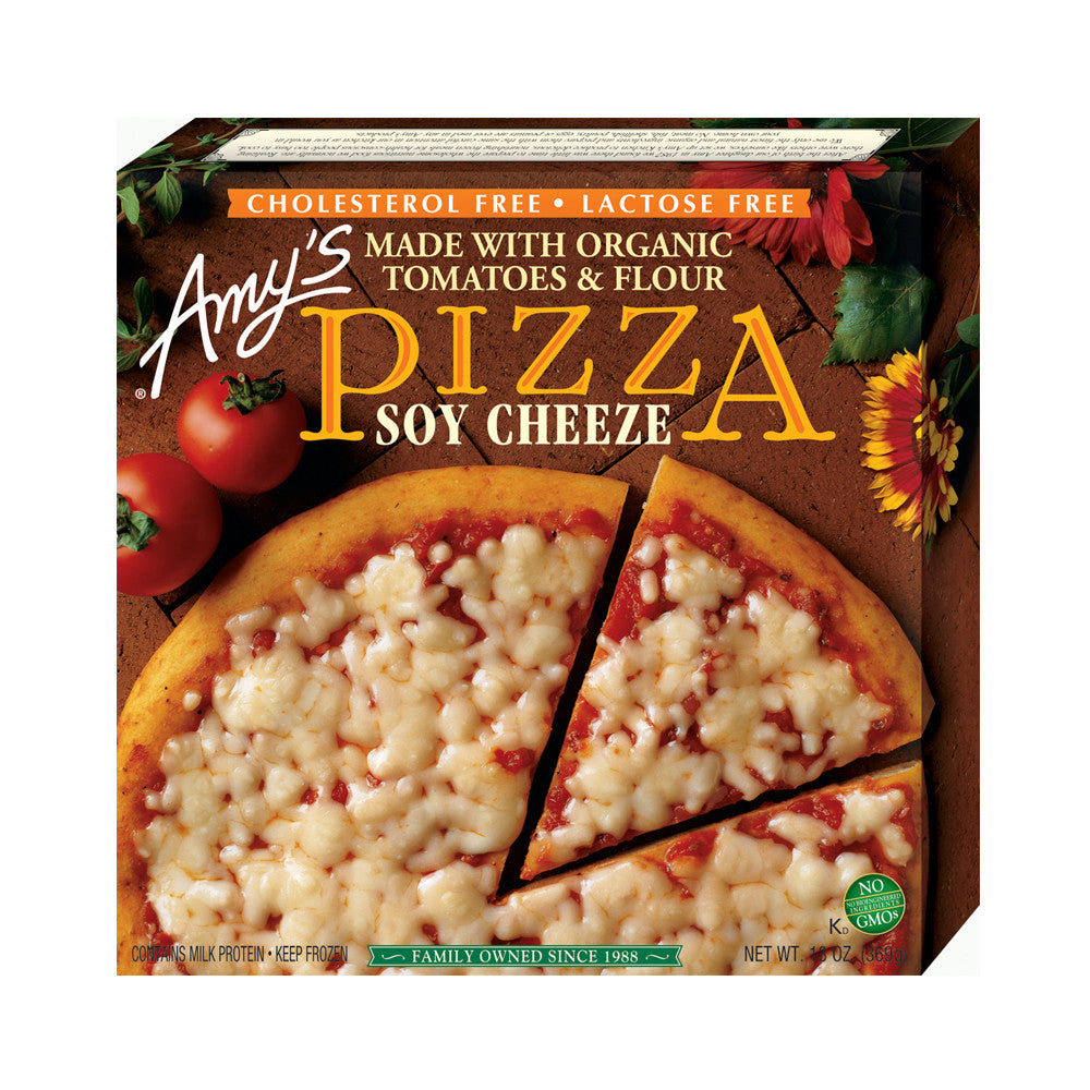 Amy's Kitchen Soy Cheeze Pizza, 13 Oz (Pack of 08)