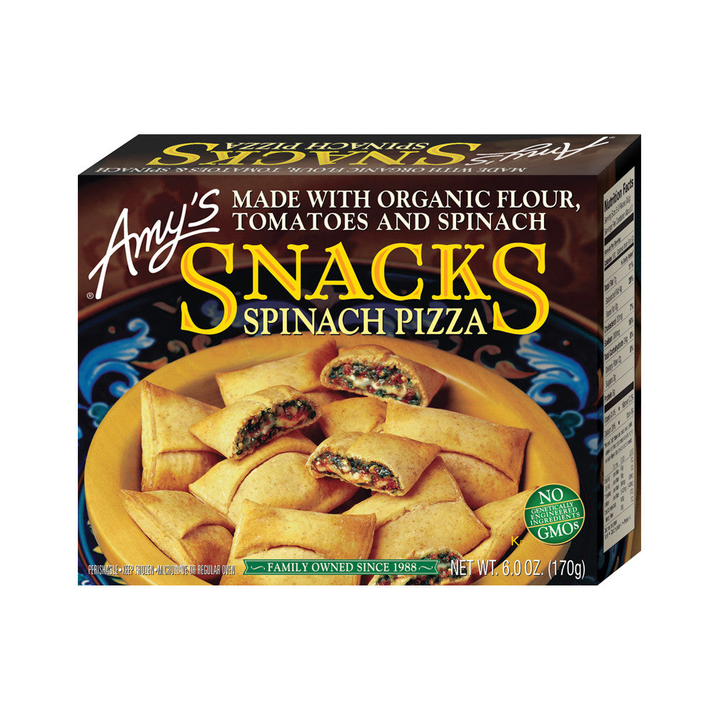 Amy's Kitchen Spinach Pizza Snacks, 6 Oz (Pack of 12)